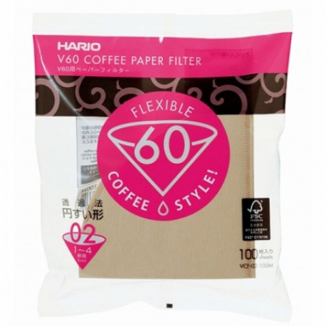 Papírové filtry Hario Misarashi V60-02 - hnědé