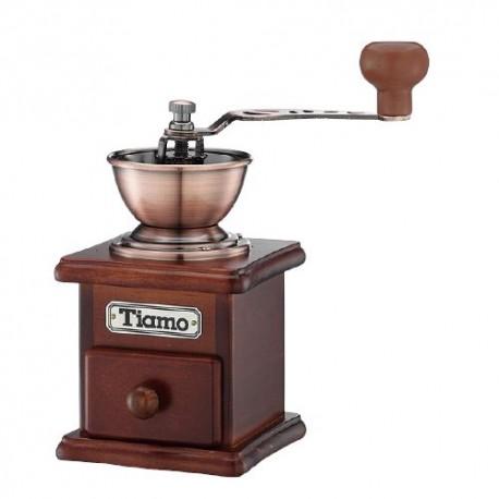 Tiamo dřevěný ruční mlýnek na kávu